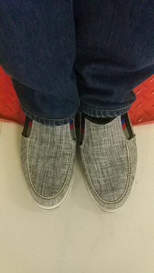 休闲鞋男鞋驾车鞋 夏季透气帆布鞋男士英伦潮流男板鞋子 蓝色 38 晒单图