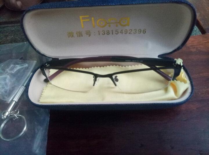 近视眼镜框男款钛合金眼镜架男眼镜潮气质成品半框近视眼镜架TR90超轻金属潮包邮 1.61品牌镜片配镜套餐(说下镜框颜色和度数) 晒单图