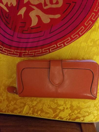 Viney钱包 女长款女士钱包新款女式卡包手拿包女油蜡真皮手包女 复古棕 晒单图