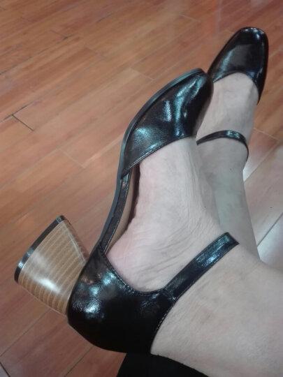 【618提前开抢 极速达】品牌钜惠春夏新款一字扣带时尚粗跟单鞋 意大利名品-黑色 38 晒单图