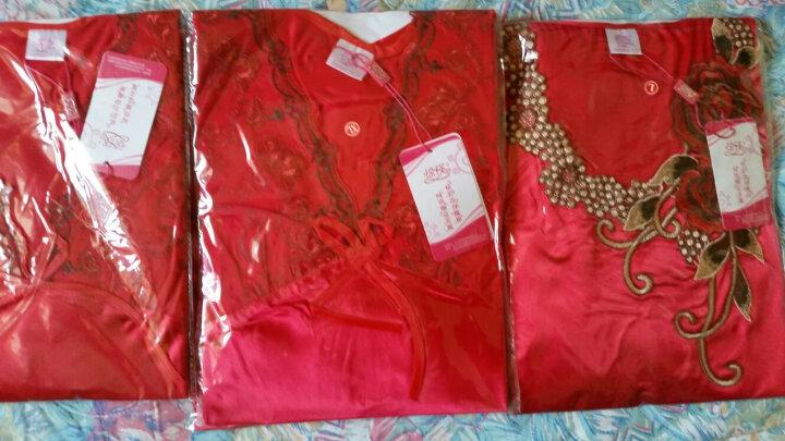 琼瑛丝绸睡衣女春季夏季短袖长袖大码女士家居服男冰丝套装 QY001两件套紫色 XL 晒单图