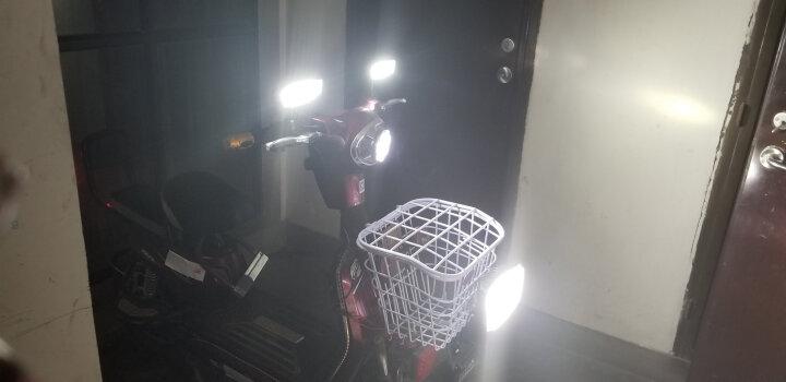 喜视摩托车灯汽车LED射灯大灯电动车灯货车车灯越野车改装超亮24V led灯12V倒车灯 15灯珠聚光凸透镜 黄金光 送开关 晒单图
