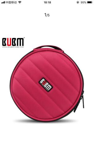 BUBM英伦风专业DJ碟包可爱高品质车载CD包DJ碟包CD收纳32片盒 圆形 红色 晒单图