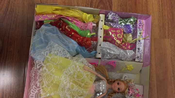 【公主礼物】女孩彩莉天使翅膀洋娃娃芭比娃娃套装公主大礼盒换装婚纱仿真配件鞋子衣服儿童玩具生日3-9岁 豪华升级版:3娃32衣小车包包 晒单图