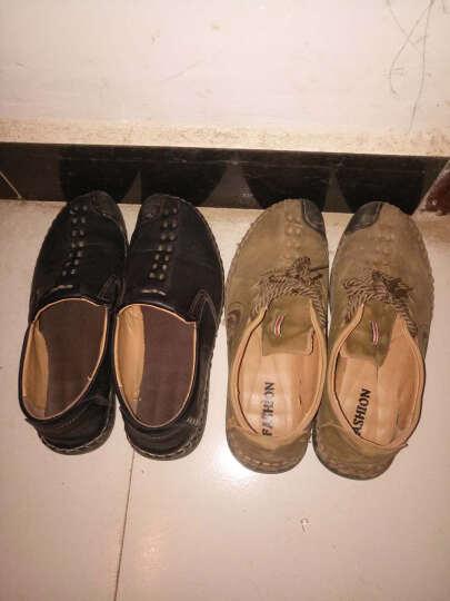 Dolorcke休闲鞋男鞋冬季手工休闲皮鞋反绒驾车豆豆鞋一脚蹬 9936黄色套脚 40 晒单图