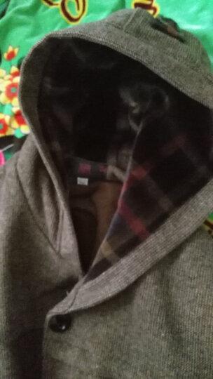 缘妈中老年女装冬装外套加厚大码妈妈装中年女士上衣经典连帽毛呢外套奶奶装YM3073 灰色加绒版 XL建议100-120斤左右 晒单图