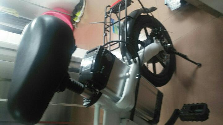 缦翎 100公里48V电动自行车迷你电瓶车锂电池代步代驾电动折叠车男女款M2S液晶版亮光白 晒单图