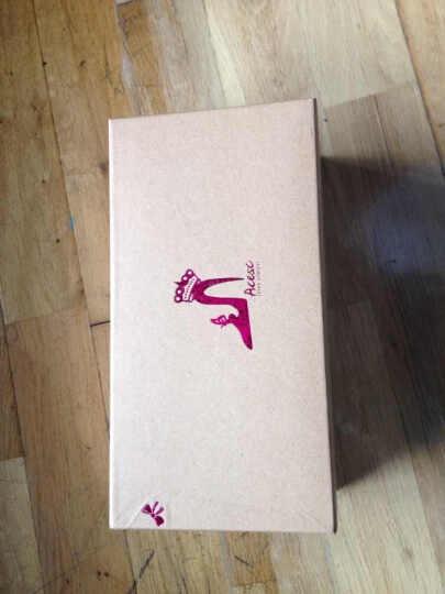 艾斯臣2016新款单鞋女女鞋平底豆豆鞋浅口休闲蝴蝶结 玫红色 39 晒单图