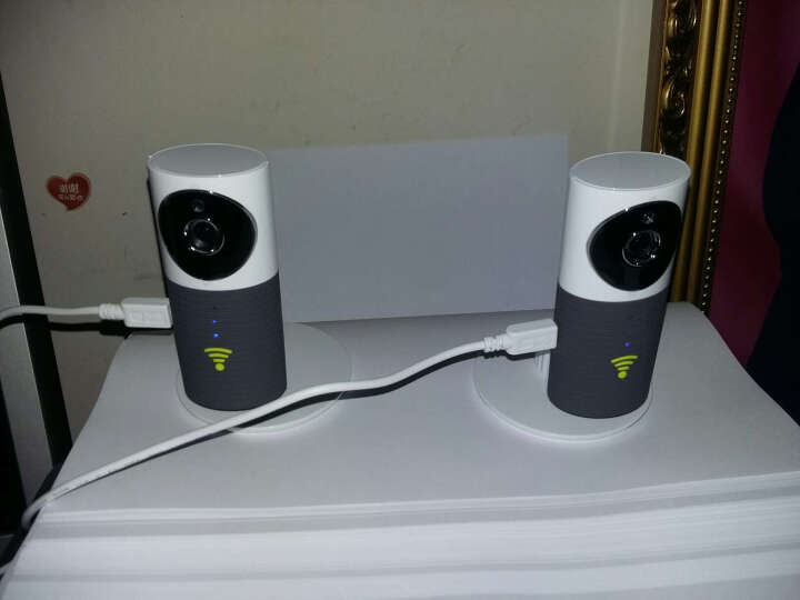 加菲狗 高清智能摄像头 Wifi无线摄像头 夜视远程网络 监控摄像头加密安全 橙色CC90 晒单图