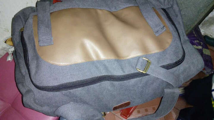 小米世家超大容量手提旅行包长途搬家包行李包托运包袋 黑色 中号 晒单图