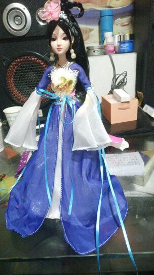 中国风巴比娃娃古装古代30cm公主洋娃娃衣服女孩玩具 儿童玩具礼物 蓝色 12关节娃娃+衣服配饰 晒单图