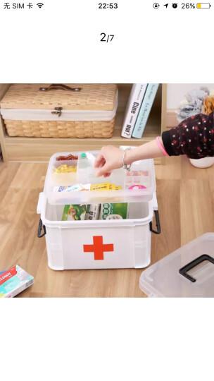 空间工房 医药箱家用多功能药盒大号便携式急救箱手提分格收纳盒 白色10L 晒单图