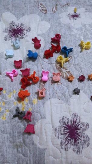 贝士 韩国儿童成人通用饰品甜美可爱宝宝小号抓夹兔子发夹对夹发卡子盘发头饰发抓刘海边夹 深粉 晒单图