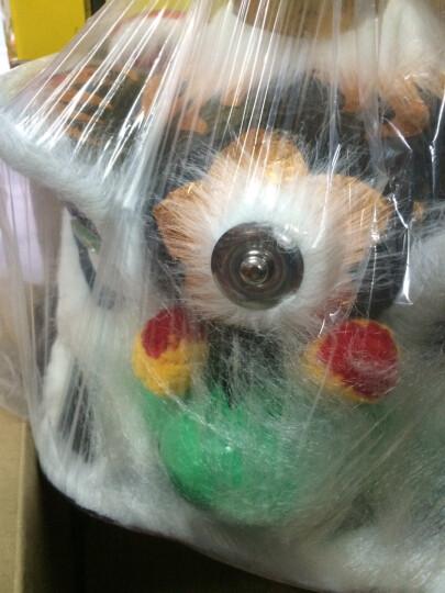10寸 6-12岁儿童狮头套装 舞狮子道具玩具传统礼物狮鼓醒狮 黑色 四件套 晒单图