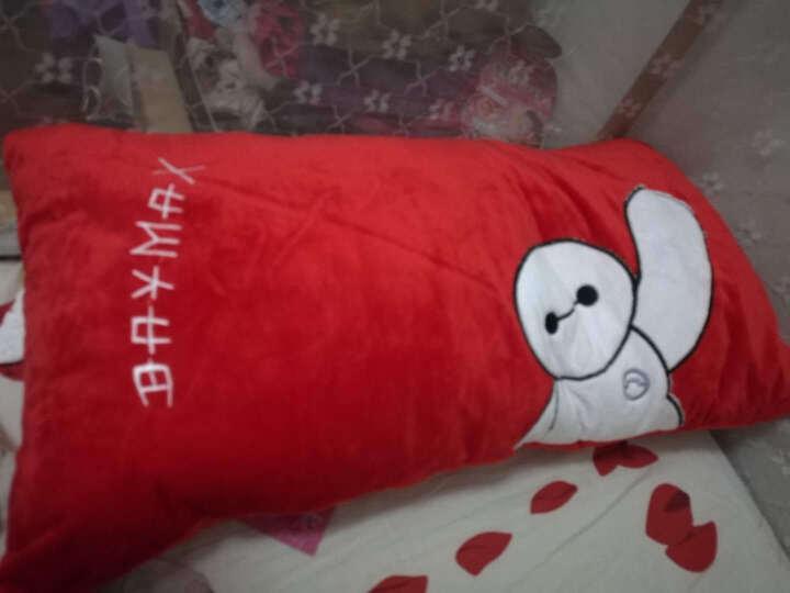捣蛋兔卡通毛绒玩具抱枕靠垫单人枕双人枕头带拉链可拆洗 送儿童女孩生日礼品 史迪仔 90厘米*35厘米 晒单图