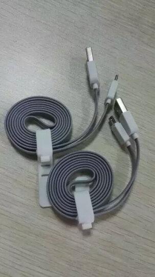 洛克(ROCK)USB数据线安卓手机充电线 适用于三星小米华为魅族HTC 100CM灰色 晒单图