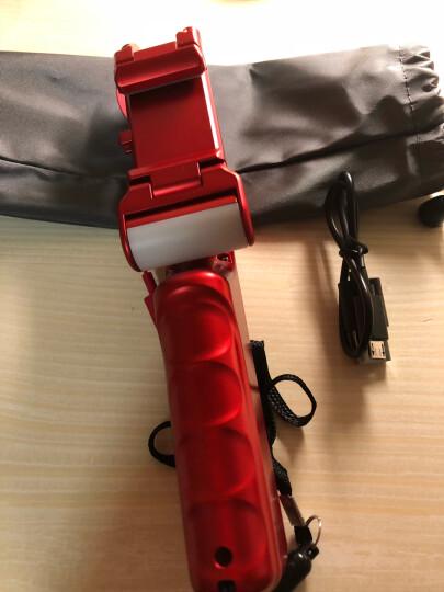 毕亚兹(BIAZE) 无线蓝牙自拍杆 自拍器 自拍器 带补光灯 通用苹果7plus手机/华为/oppo/魅族/华为 U17-红 晒单图