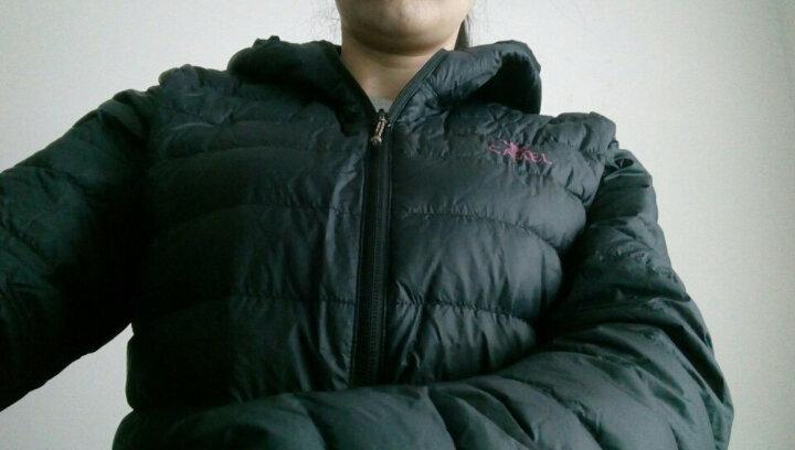 骆驼牌 户外羽绒服男女情侣款防风保暖轻薄羽绒服 男女款 黑色 (女款 A6W1U7111 ) XL 晒单图