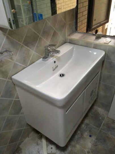 安华(ANNWA) 安华浴室柜组合套装实木橡木吊柜(洗手洗脸盆镜柜3396/80cm) 组合97001510 晒单图