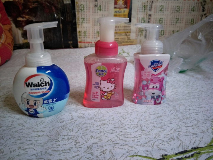 威露士(Walch)泡沫抑菌洗手液 300ml 儿童卡通版 晒单图