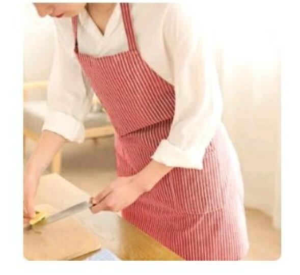 家杰 棉麻竖条纹时尚围裙 简约围裙 防水防油罩衣 JJ-CF603 晒单图