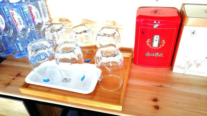 Ocean进口玻璃杯家用透明水杯套装耐热茶杯牛奶杯果汁杯喝水杯子 415ml六只装带杯架杯盘 晒单图