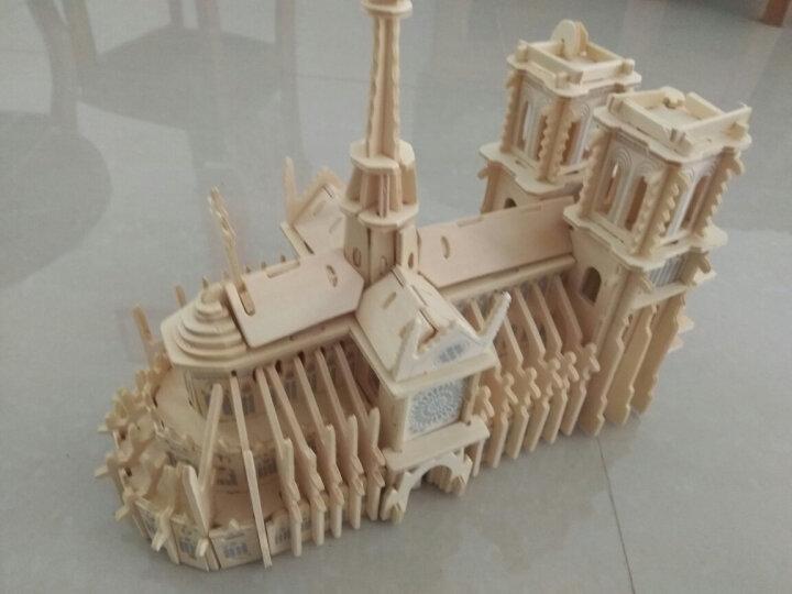 果益立体拼插木质拼装3D立体拼图 儿童手工diy拼装玩具男孩益智玩具木制仿真模型 俄罗斯圣诞大屋 晒单图