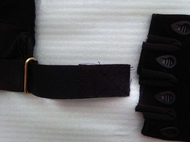 博沃尼克 户外登山黑鹰半指特种兵手套 运动战术手套骑行手套 硬壳款M号 晒单图