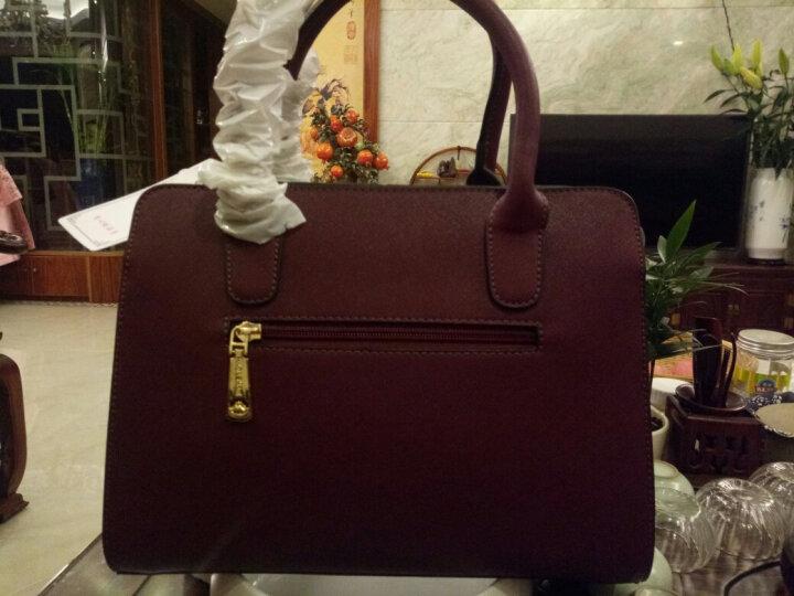 红客 新款包包女包简约商务单肩包定型手提包斜挎包欧美风女士大包潮女 紫色 晒单图