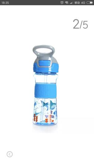 努比(Nuby )儿童吸管杯 学饮杯宝宝防漏饮水杯 学生运动便携杯子360ml 深海蓝 晒单图