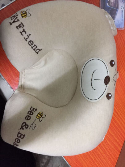 双漫婴儿枕头定型枕防偏头宝宝新生儿定型枕头纠正偏头 2019宝宝熊款 单枕套(彩棉款) 晒单图