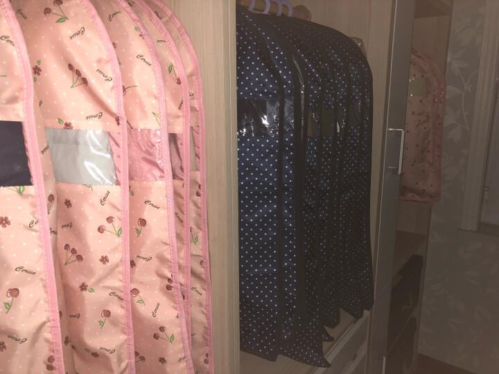 西文 西服防尘罩 衣服罩子 大衣防尘套 衣服防尘袋 衣罩西服套 可水洗 镜花红 M(60*100CM) 晒单图