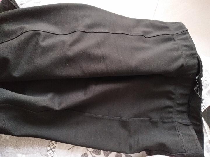 MsShe大码裤子女胖mm新款腿粗修身打底裤橡筋腰外穿休闲裤M1630390 黑色 T5 晒单图