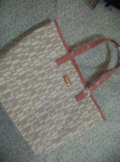 ELLE(她)时尚女包PVC潮流三件组单肩包斜跨包零钱包大容量包包嫩粉色 晒单图