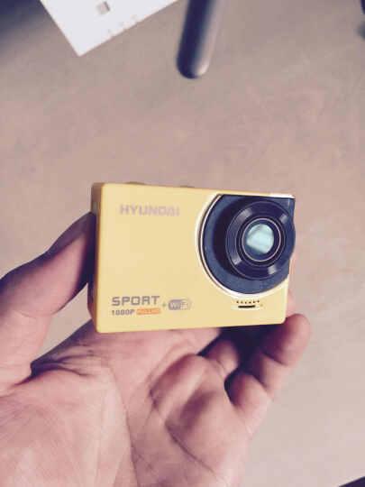 HYUNDAI H3+ 现代智能无线wifi运动摄像机户外运动DV (含头盔支架/自行车固定支架/30米防水壳) 黄色 晒单图