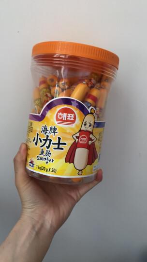 海牌小力士鱼肠桶装 奶酪虾蟹玉米味鳕鱼肠 宝宝儿童进口零食 20g*50支/罐 晒单图