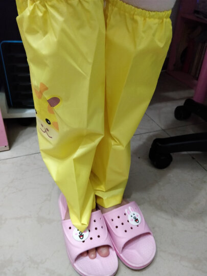 kk树 kocotree儿童脚套雨鞋套小鹿款加厚耐磨防水小孩过膝水鞋腿套 KQ17145 黄色 均码 晒单图
