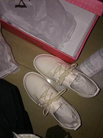 Tata/他她女鞋系带牛皮小白鞋低跟百搭单鞋2WC20CM7 白色 35 晒单图