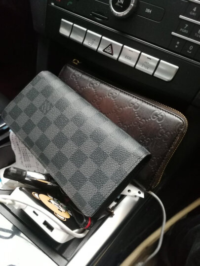 路易威登LV钱包潮流钱夹长款棋盘格N62228 茶色N62228 晒单图