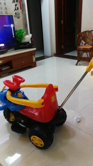 LEKANG 乐康儿童电动车三轮摩托车男女宝宝小汽车婴幼儿玩具四轮手推车小孩可坐人充电童车 柠檬红(升级大电瓶) 晒单图