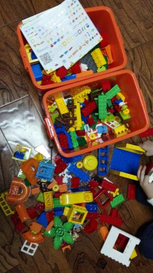 欢乐客 大颗粒儿童积木益智玩具兼容乐高积木男孩女孩子3-6周岁以上拼装塑料我的世界七巧板 134颗粒+收纳凳+大底板+4P球罐 晒单图