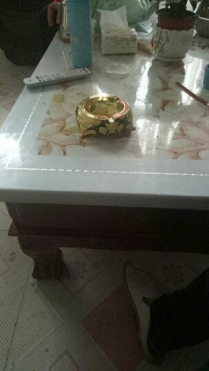 就爱我吧 烟灰缸 大号复古烟灰缸创意个性时尚复古欧式烟灰缸 多尺寸可选 金黑玫瑰(直径14.5cm) 晒单图