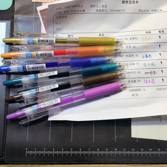 【官方直销】日本PILOT百乐LJU-10EF/UF彩色果汁按动中性笔 办公学生考试水笔 树叶绿LG 0.38mm 晒单图