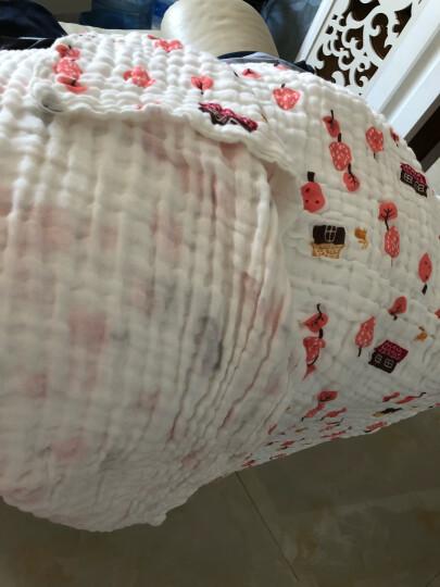 喜亲宝 婴儿浴巾盖毯 新生儿澡巾 水洗纱布儿童浴巾包巾105*120cm棕条纹 晒单图
