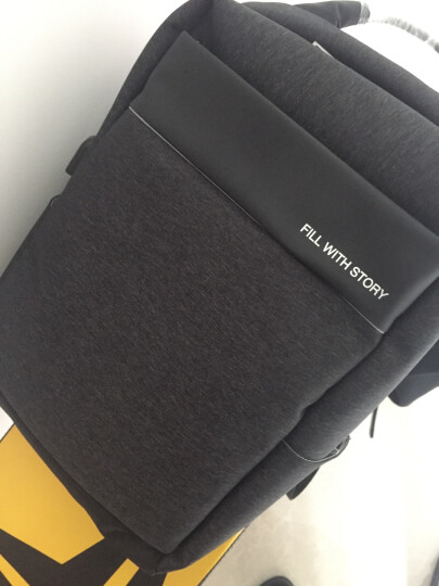 【多功能商旅包】诺龙 15.6寸电脑包双肩包男士背包14寸苹果笔记本包新品旅行包商务包学生书包 紫色+外置USB+耳机接口 晒单图