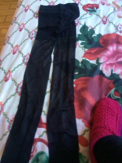 南极人(Nanjiren)丝袜女士轻薄显瘦包芯丝性感防勾丝打底连裤袜 连裤袜(露趾黑色)*1 均码 晒单图