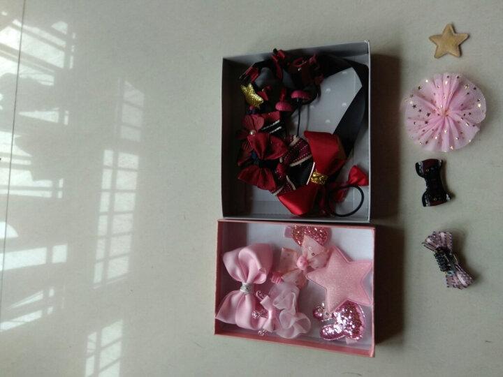 美丽义饰  发夹套装儿童发饰女童公主宝宝发卡子小女孩套装头饰十件套礼盒装 7#粉色星星八件套B517 晒单图