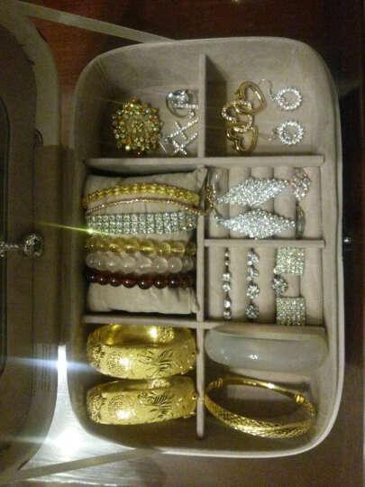 首饰盒珠宝盒带锁复古欧式公主皮革便捷带锁手饰品女项链戒指手镯手链耳坠收纳盒 高跟鞋 晒单图