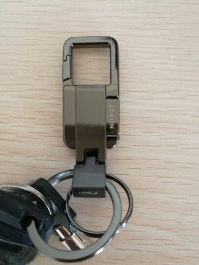 JOBON中邦钥匙扣圈汽车钥匙扣链子母圈簧按扣腰挂式 ZB-077B黑镍 晒单图