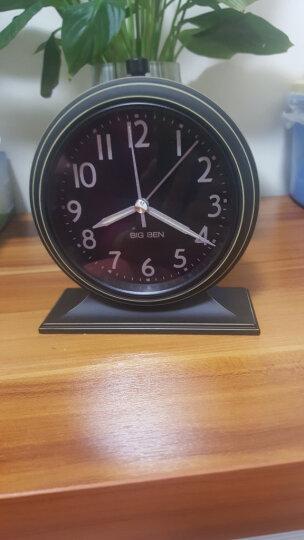 北欧国度 NOMO 北欧气质款 美式乡村安德鲁静音钟表座钟-平底 闹钟桌面钟台钟 黑色款 晒单图